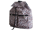 Leopard pattern backpack with drawstring closure BP120301