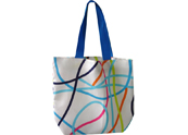 Colorful Stripes Printed Beach bag TB122156