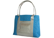 Silver Tote Bag with Lining Slip Pocket TB101004