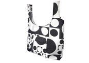 Black and White Bubbles Printed  Beach bag TB122153