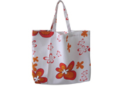 Red flowers Printed Beach Bag TB122154