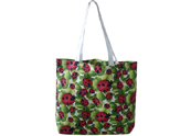 Green and red printed Beach bag TB122152
