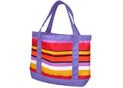 Large Roomy Colourful Stripes Canvas Beach Tote Bag TB122151