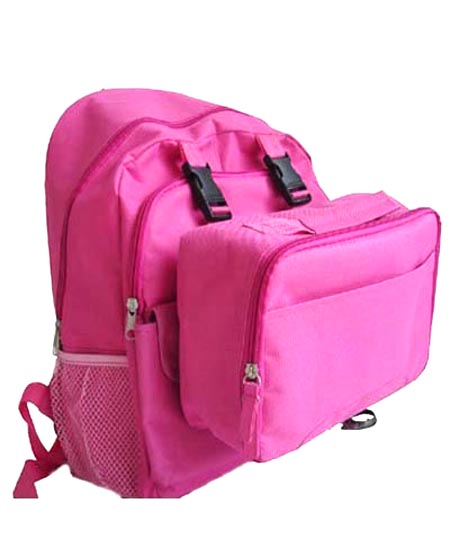 School backpack attached with detachable lunch box  BP111008