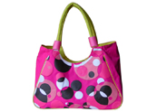 Purple-red Bubbles Beach Bag Tote with Inner Slip Pocket Tote Bag TB140721