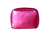 Varnished PVC leather with metallic appearance cosmetic bag CS130736