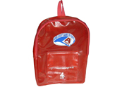 45c printing transparent  pvc backpack with front pocket   BP090866