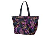 Colorful Printed Tote bag with two front slip pockets TB120411