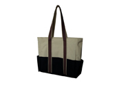 White and black tote bag  TB120629