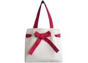 Red bow lady woman tote bag TB101003
