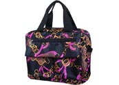 Large  colorful printed tote bag  with two front slip pockets& back zipper pocket TB120412