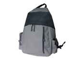 Polyster backpack with two sides pockets and laptop compartment BP090869