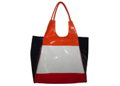 Colourful Vanish Leather Tote Bag TB090896