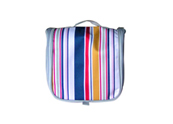 Micro-fibre with colorful vertical stripes cosmetic bag CS110314