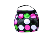 Satin with PVC foam backing water proof cosmetic bag CS111001