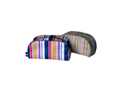 Micro-fibre with colorful vertical stripes cosmetic bag CS091046