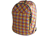 Rip-stop fabric with check printed backpack BP110908